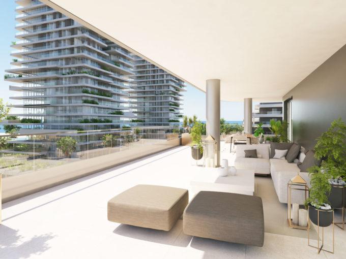 Brand new contemporary Halia apartments in the city