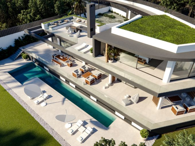 New to built off plan villa project on the Golden Mile.